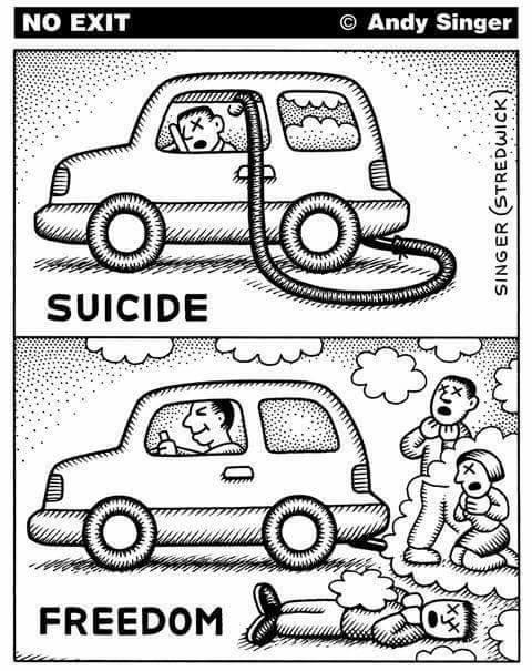 Samobójstwo i wolność i podwójne standardy