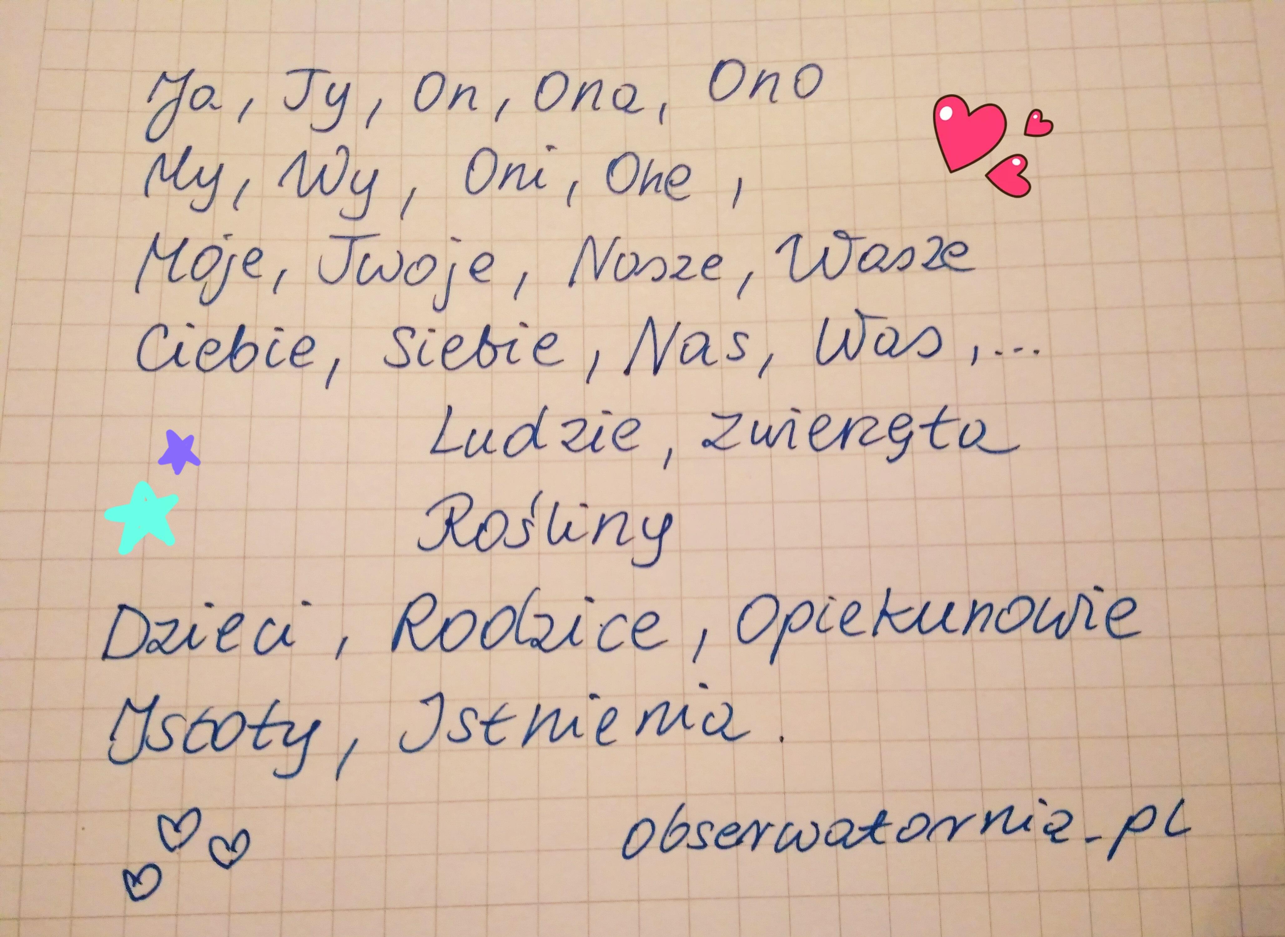 Zwroty określające Istoty w języku polskim